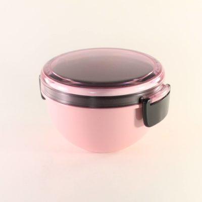 Matlåda rund rosa